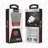 شارژر خانگی دو پورت با کابل میکرو LDNIO مدل DL-AC56